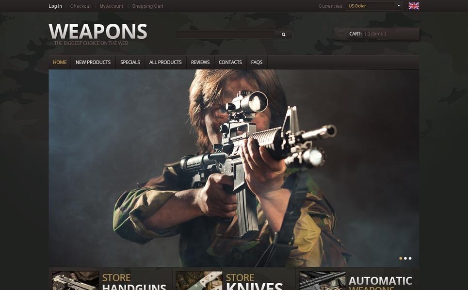 ZenCart template over Wapenwinkel  New Screenshots BIG