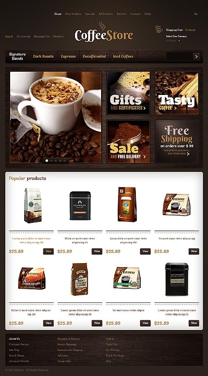 ZenCart Template 40176 Main Page Screenshot