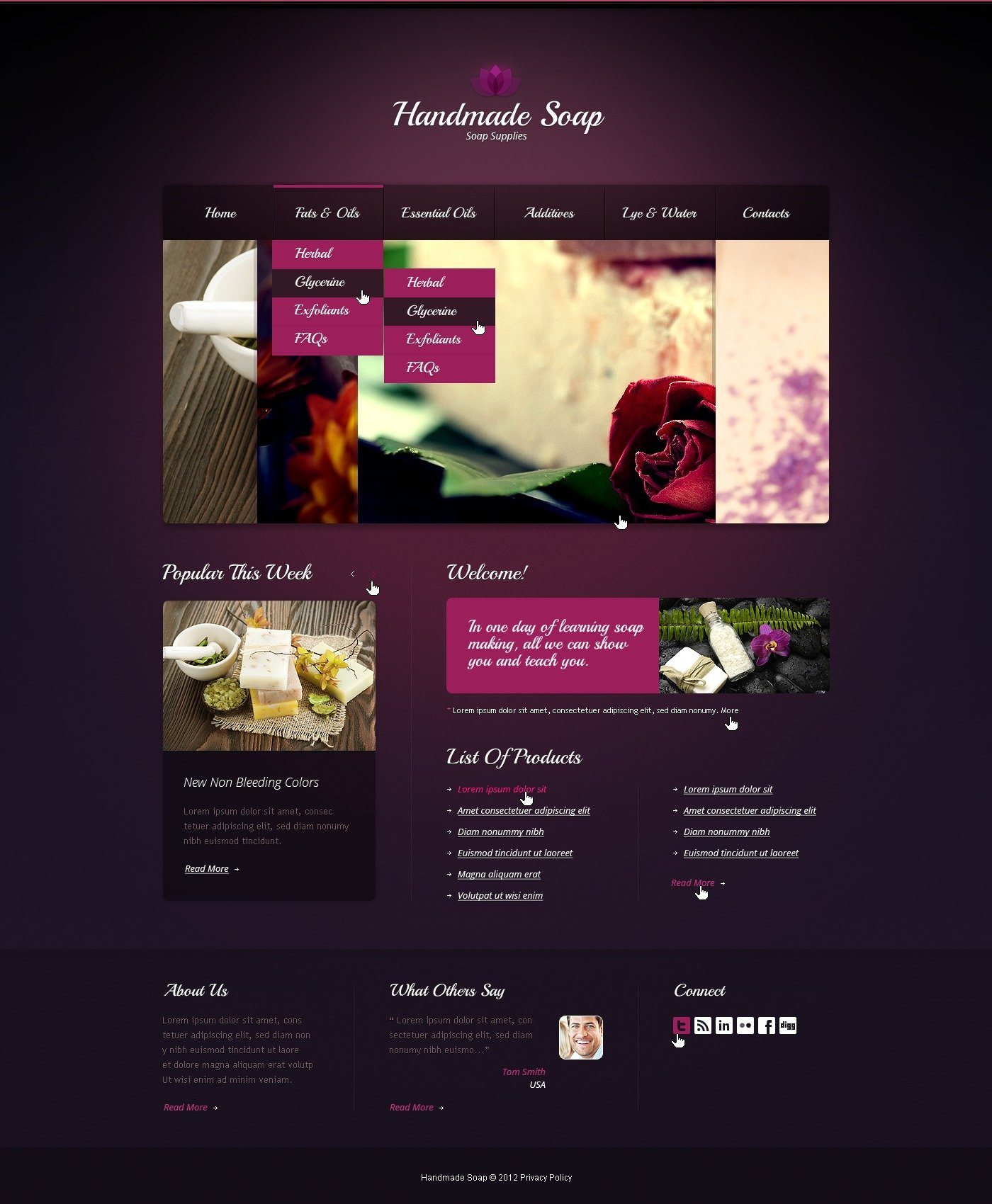 Crafts Website Template 40102