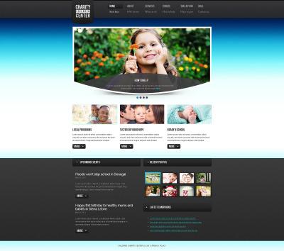 Modèle Web  pour site d'association caritative
