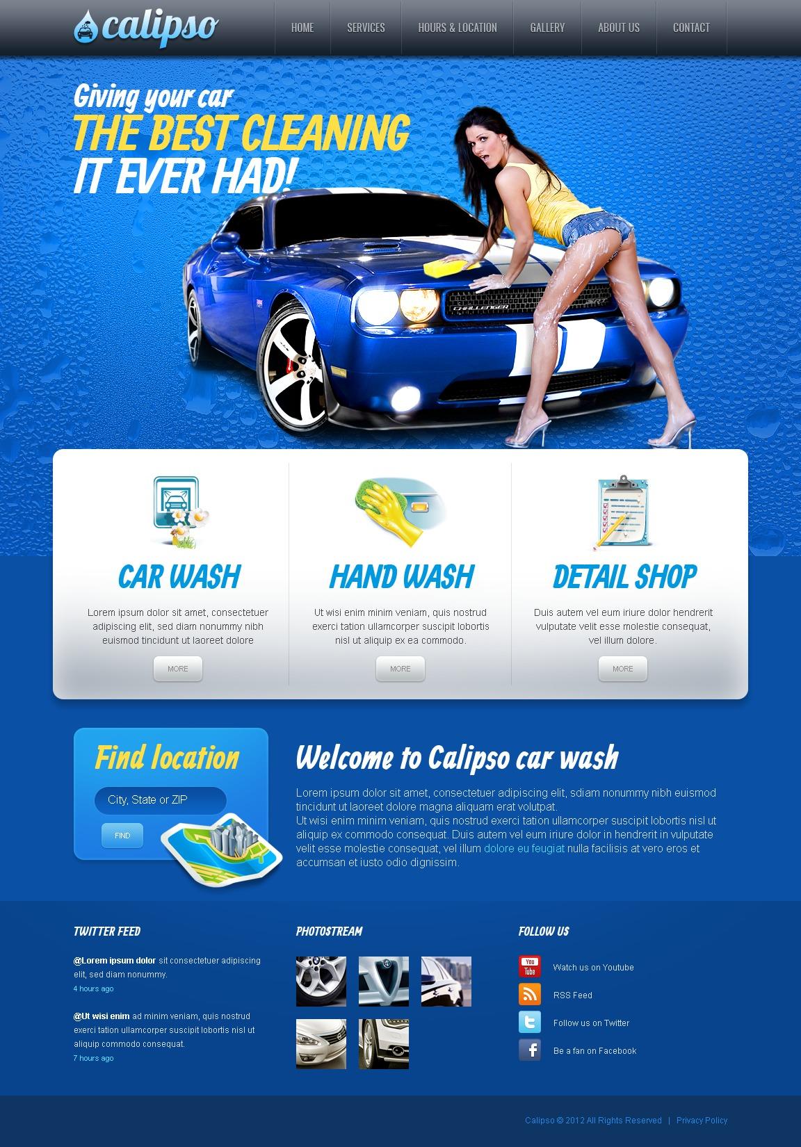 Plantilla Web #40106 para Sitio de Lavado de autos