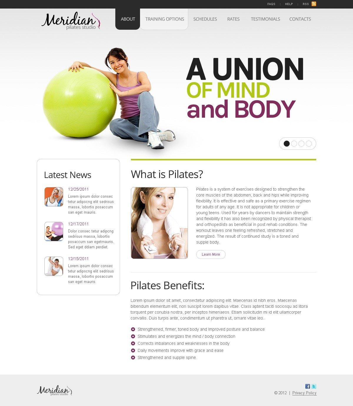 Plantilla Web #40187 para Sitio de Yoga