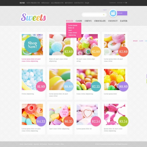 Sweets - ZenCart Template