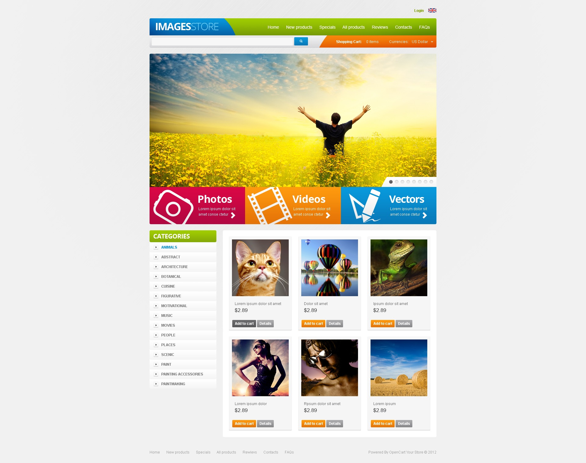 "Template ZenCart #40111 ""Images for Various Projects"""