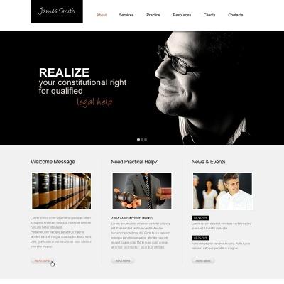 Anwalts Website-Templates