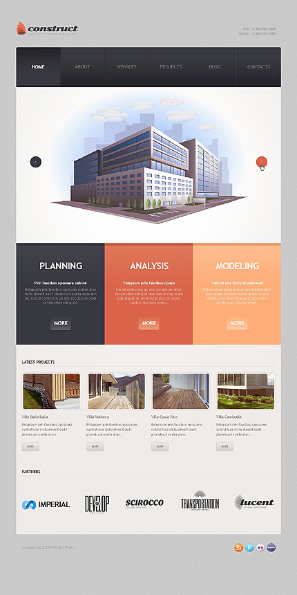 Architect wordpress template | template.