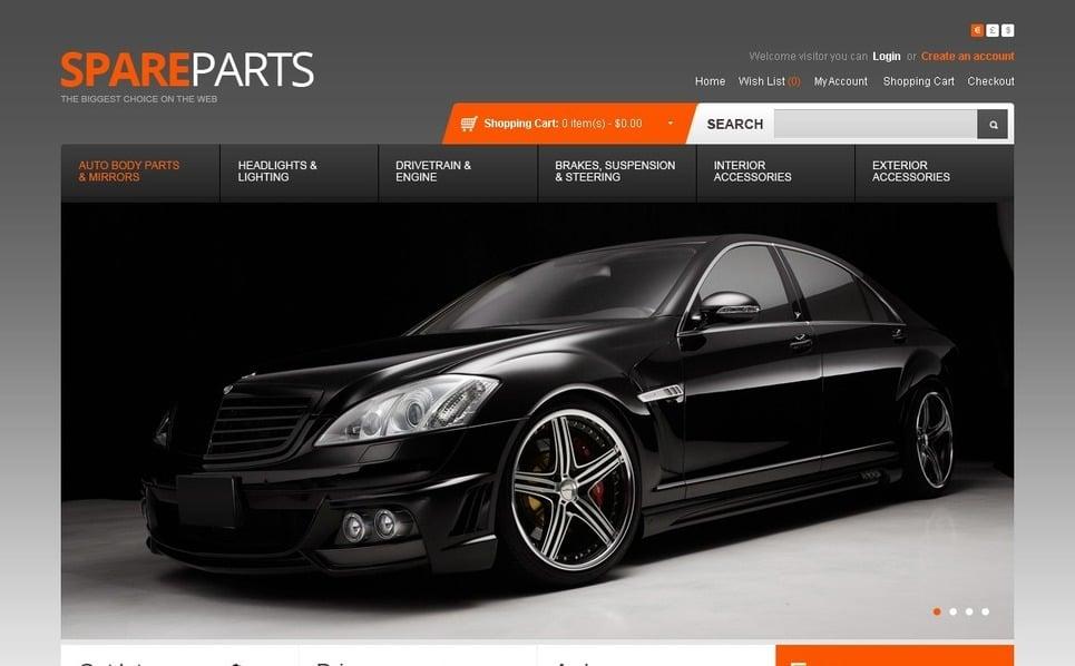 OpenCart Template over Auto-onderdelen  New Screenshots BIG