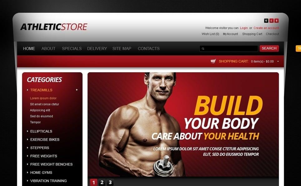 Thème OpenCart  pour boutique de sport New Screenshots BIG
