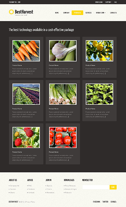Template 40229 ( Products Page ) ADOBE Photoshop Screenshot