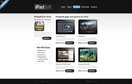 Template 40231 ( Products Page ) ADOBE Photoshop Screenshot