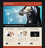 Security Website  Template 40235