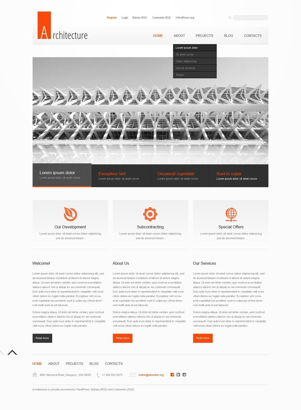 Architecture wordpress theme 40255 for Architecture wordpress