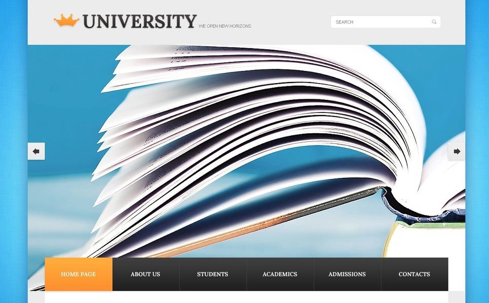 Tema Siti Web  #40266 per Un Sito di Università New Screenshots BIG