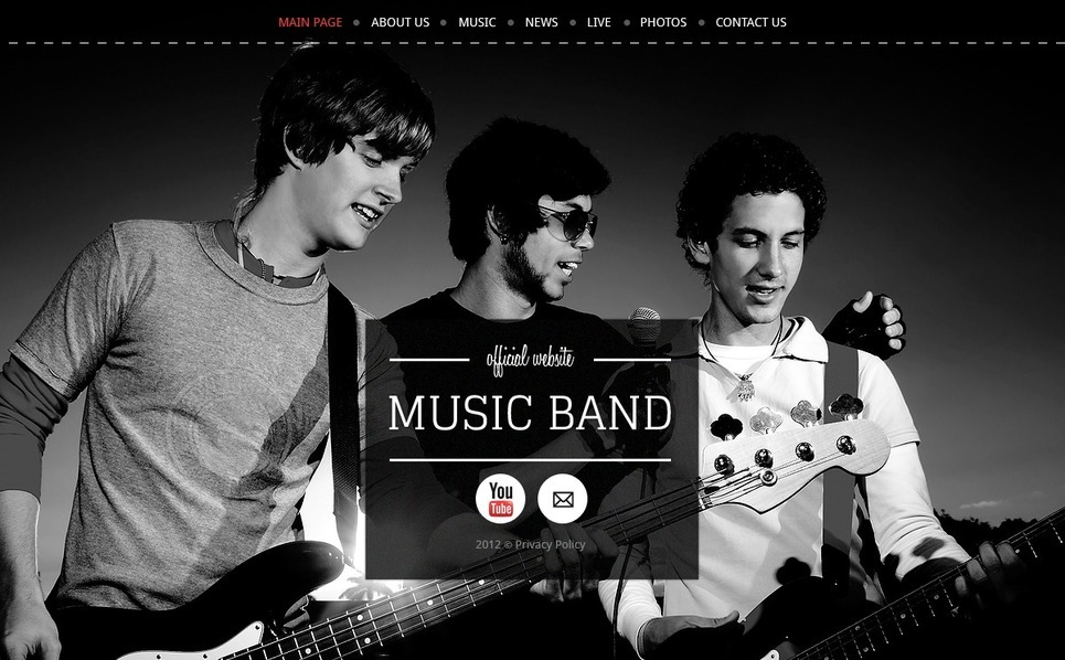 Website template over Muziekgroup  New Screenshots BIG