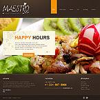 Cafe & Restaurant Joomla  Template 40271