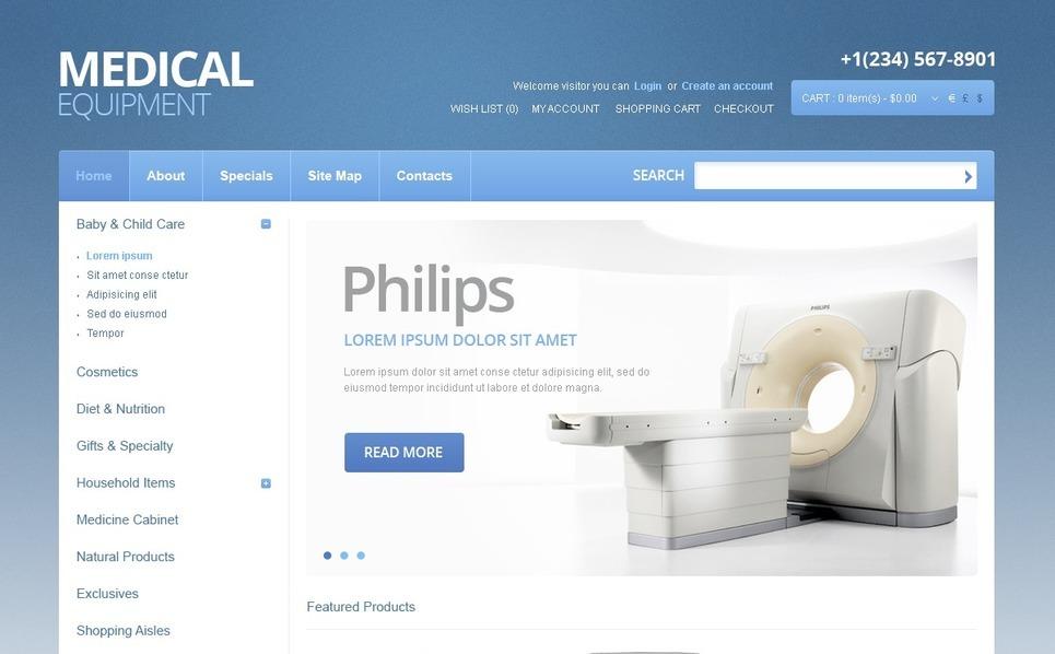 Modello OpenCart  #40286 per Un Sito di Attrezzature Mediche New Screenshots BIG