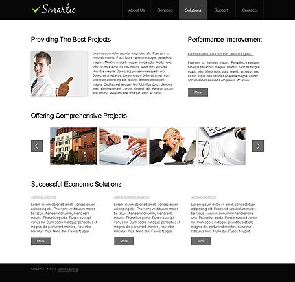 Template 40289 ( Solutions Page ) ADOBE Photoshop Screenshot