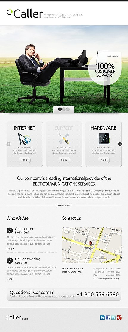 ADOBE Photoshop Template 40294 Home Page Screenshot