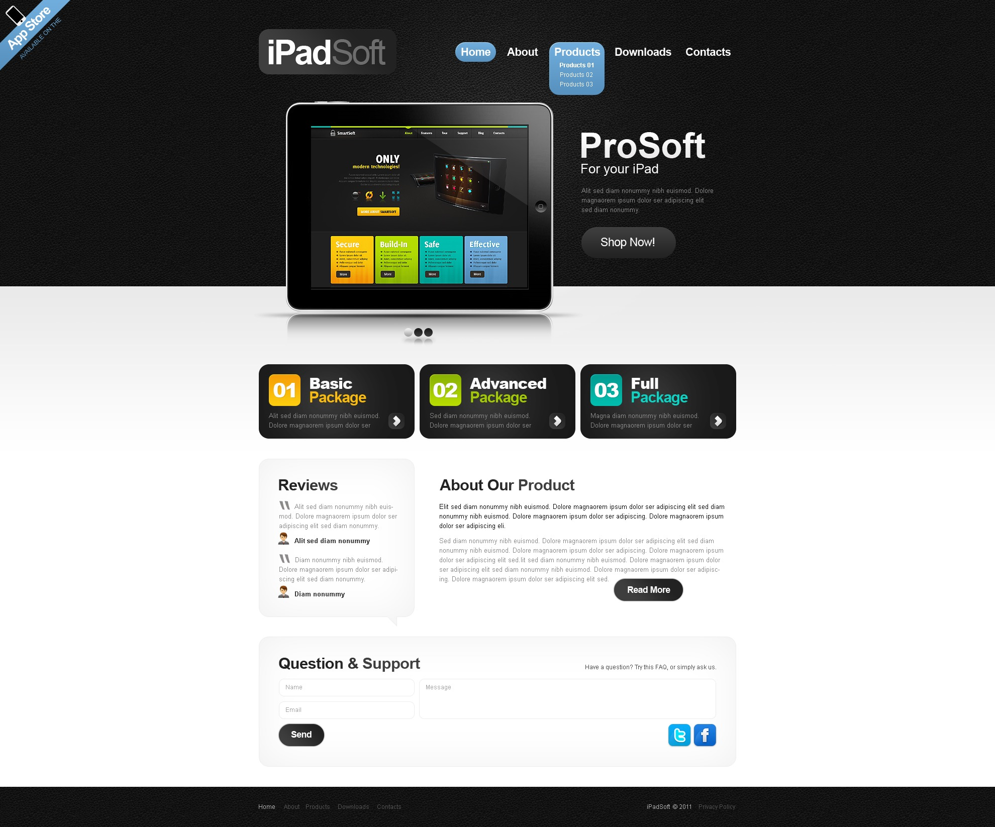 Template Web para Sites de Empresa de Software №40231
