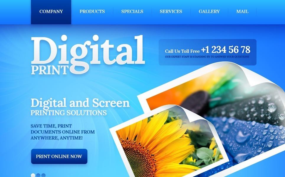 Tema Siti Web  #40305 per Un Sito di Copisteria New Screenshots BIG