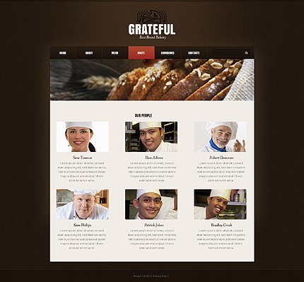 Template 40311 ( Chefs Page ) ADOBE Photoshop Screenshot