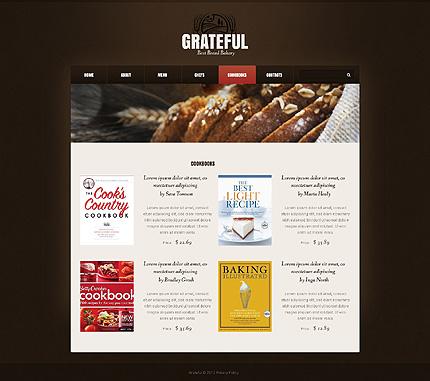 Template 40311 ( Cookbooks Page ) ADOBE Photoshop Screenshot