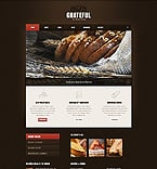Food & Drink Website  Template 40311