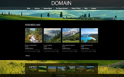 Template 40319 ( Featured Land Page ) ADOBE Photoshop Screenshot