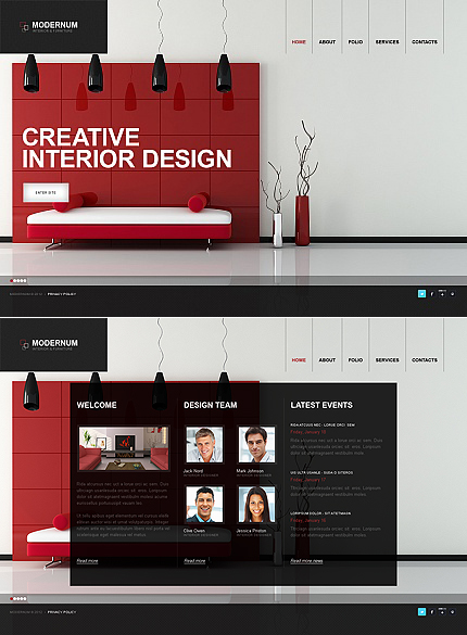 ADOBE Photoshop Template 40322 Home Page Screenshot