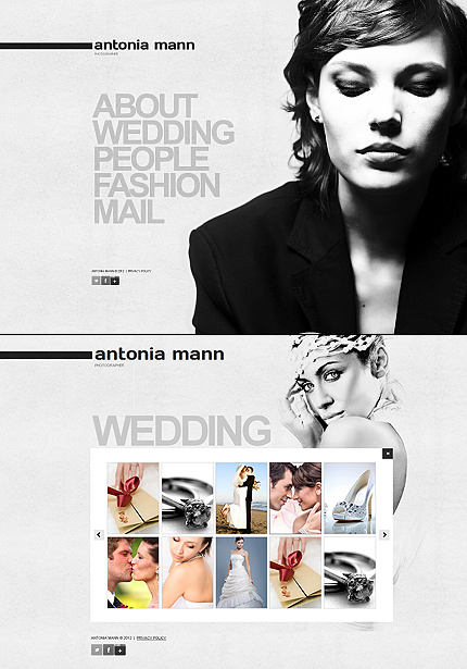 ADOBE Photoshop Template 40326 Home Page Screenshot