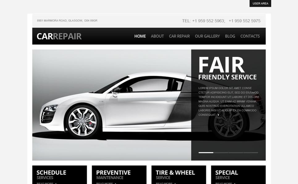 Szablon Drupal #40337 na temat: naprawa samochodów New Screenshots BIG