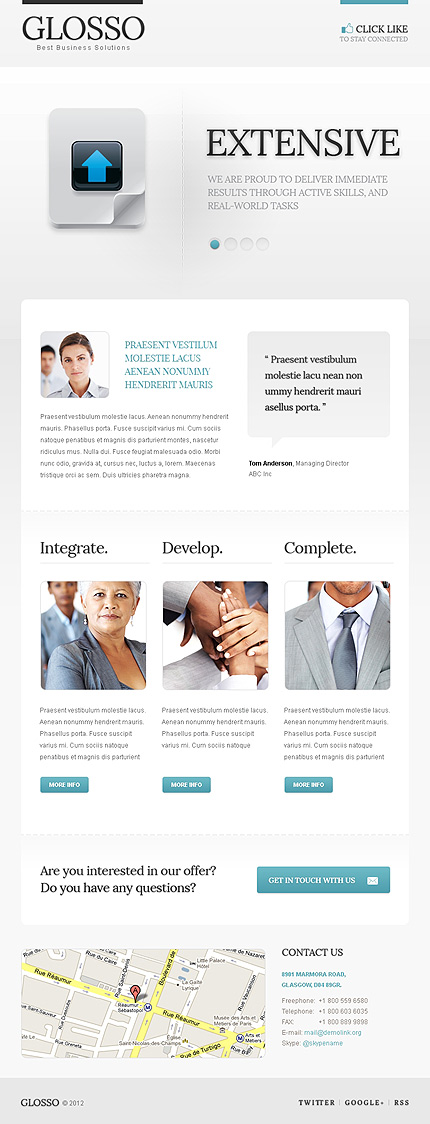 ADOBE Photoshop Template 40344 Home Page Screenshot