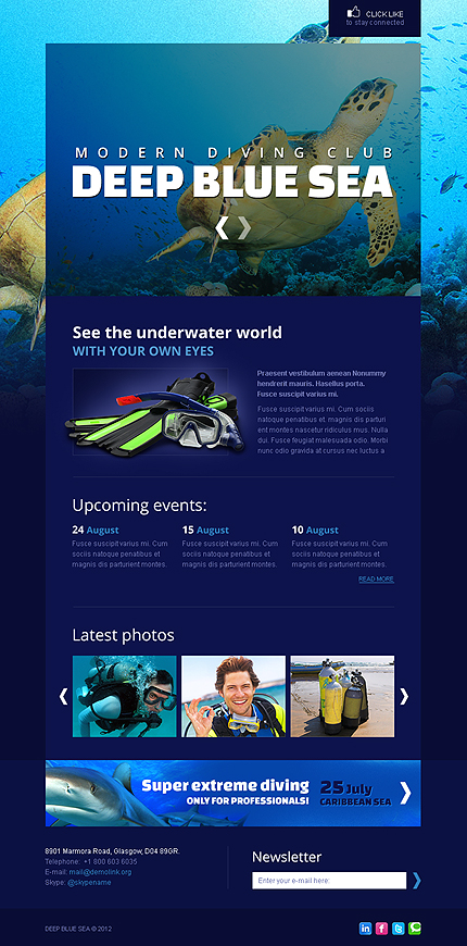 ADOBE Photoshop Template 40368 Home Page Screenshot