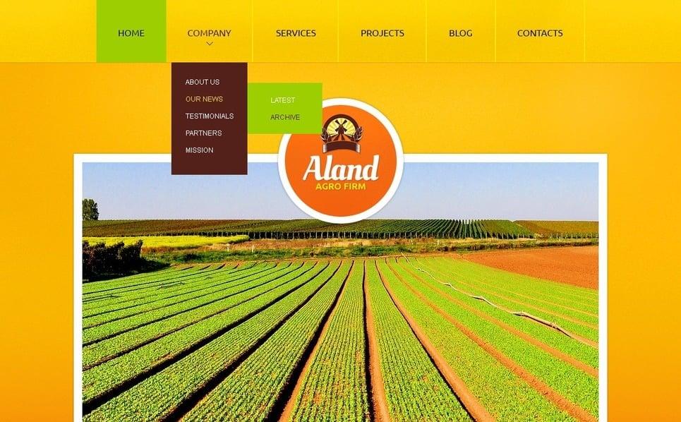 Plantilla Drupal #40373 para Sitio de Agricultura New Screenshots BIG