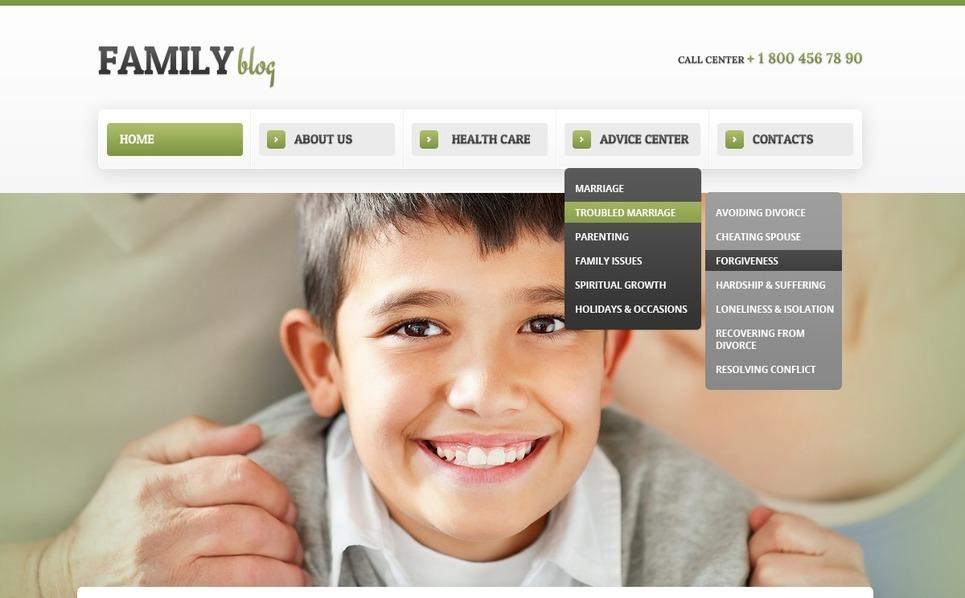 Drupal шаблон на тему сім`я New Screenshots BIG