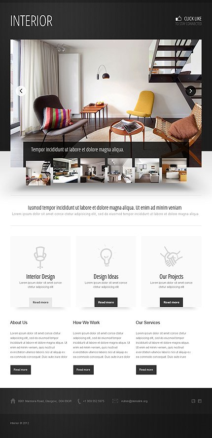 ADOBE Photoshop Template 40397 Home Page Screenshot