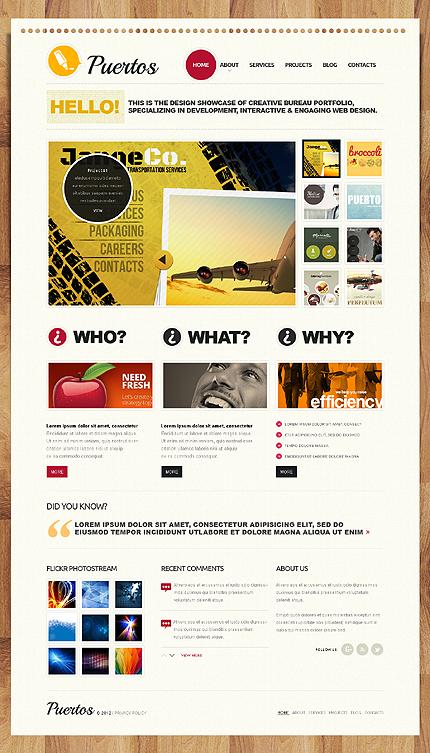 Joomla Theme/Template 40398 Main Page Screenshot
