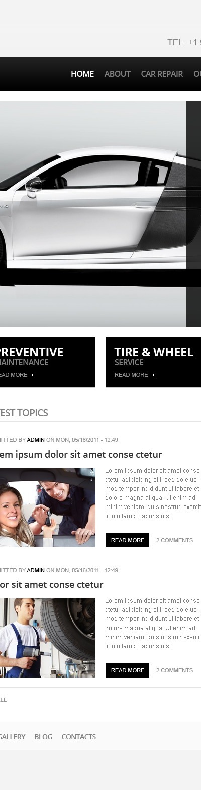 Car Repair Drupal Template