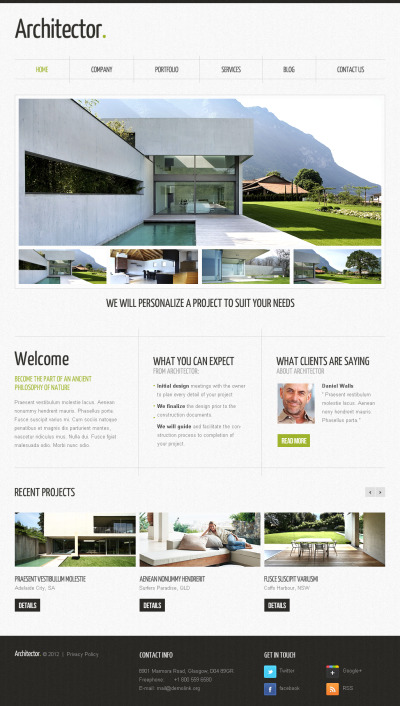 Construction Company Moto CMS HTML Template #40330