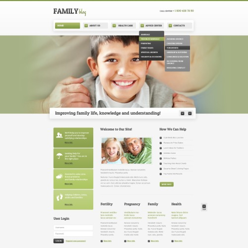 Family - Drupal Template