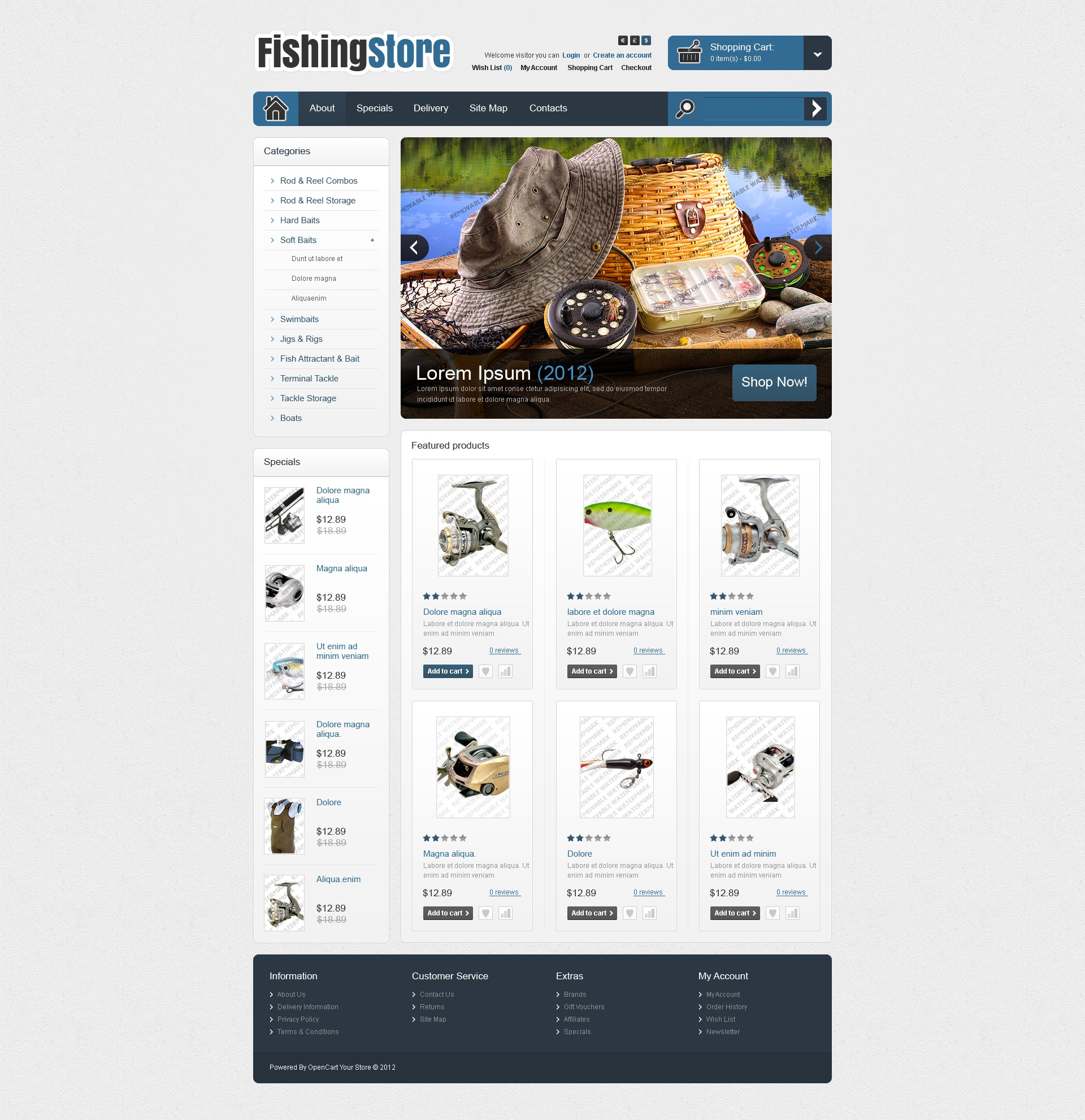 Fishing OpenCart Template