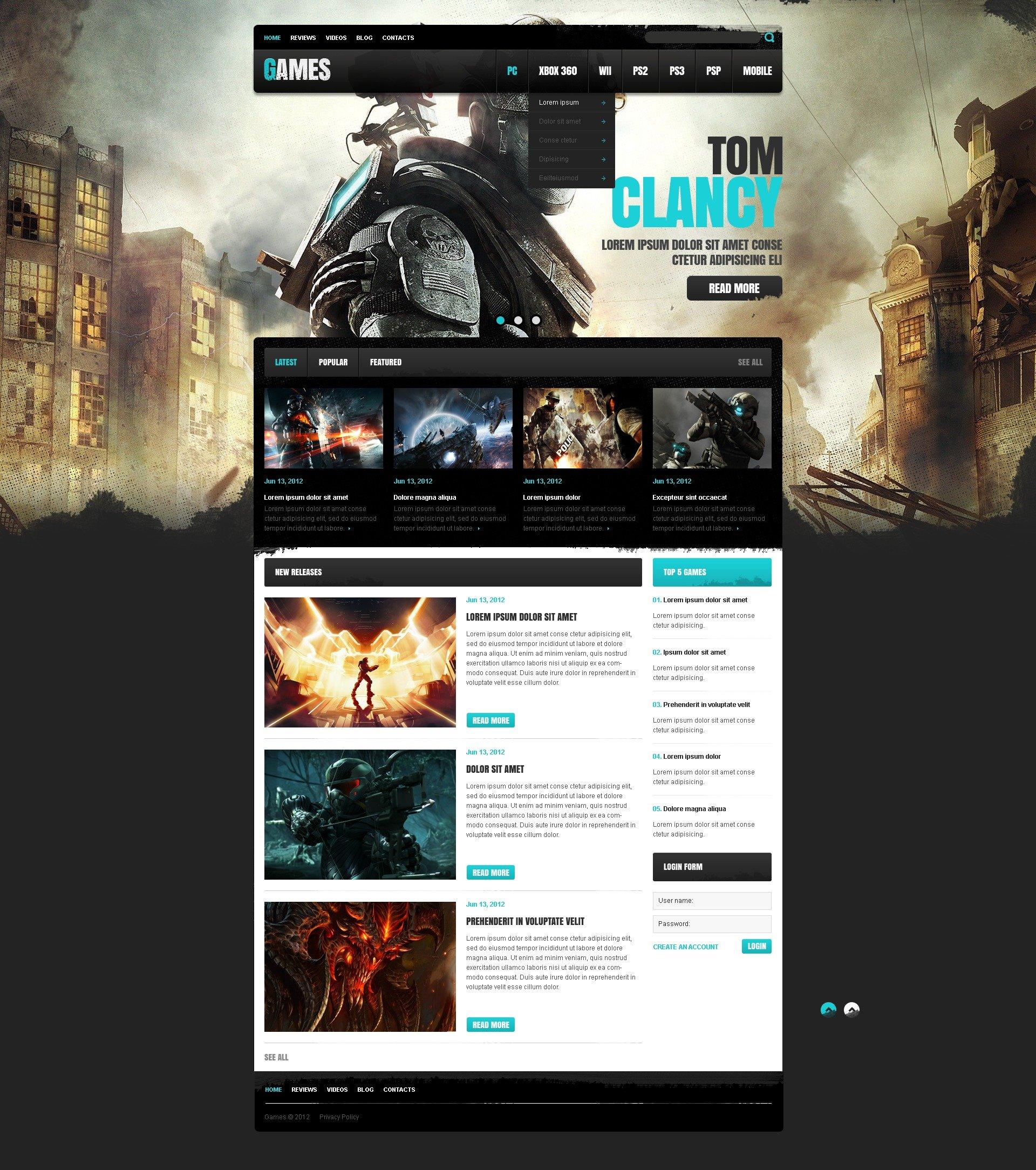 23+ Best Games Website Templates