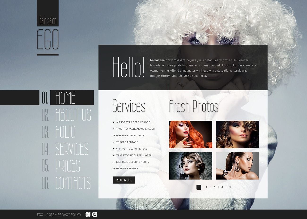 hair salon flash template 40301
