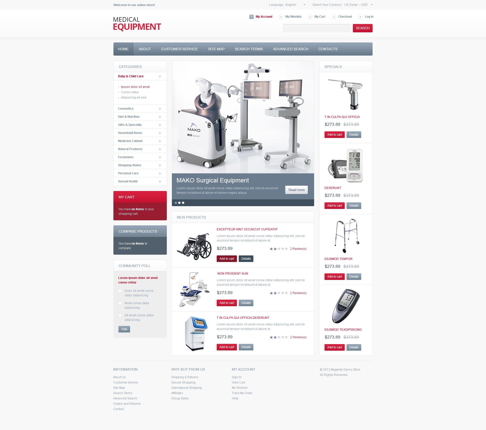 high tech medical equipment magento theme 40378