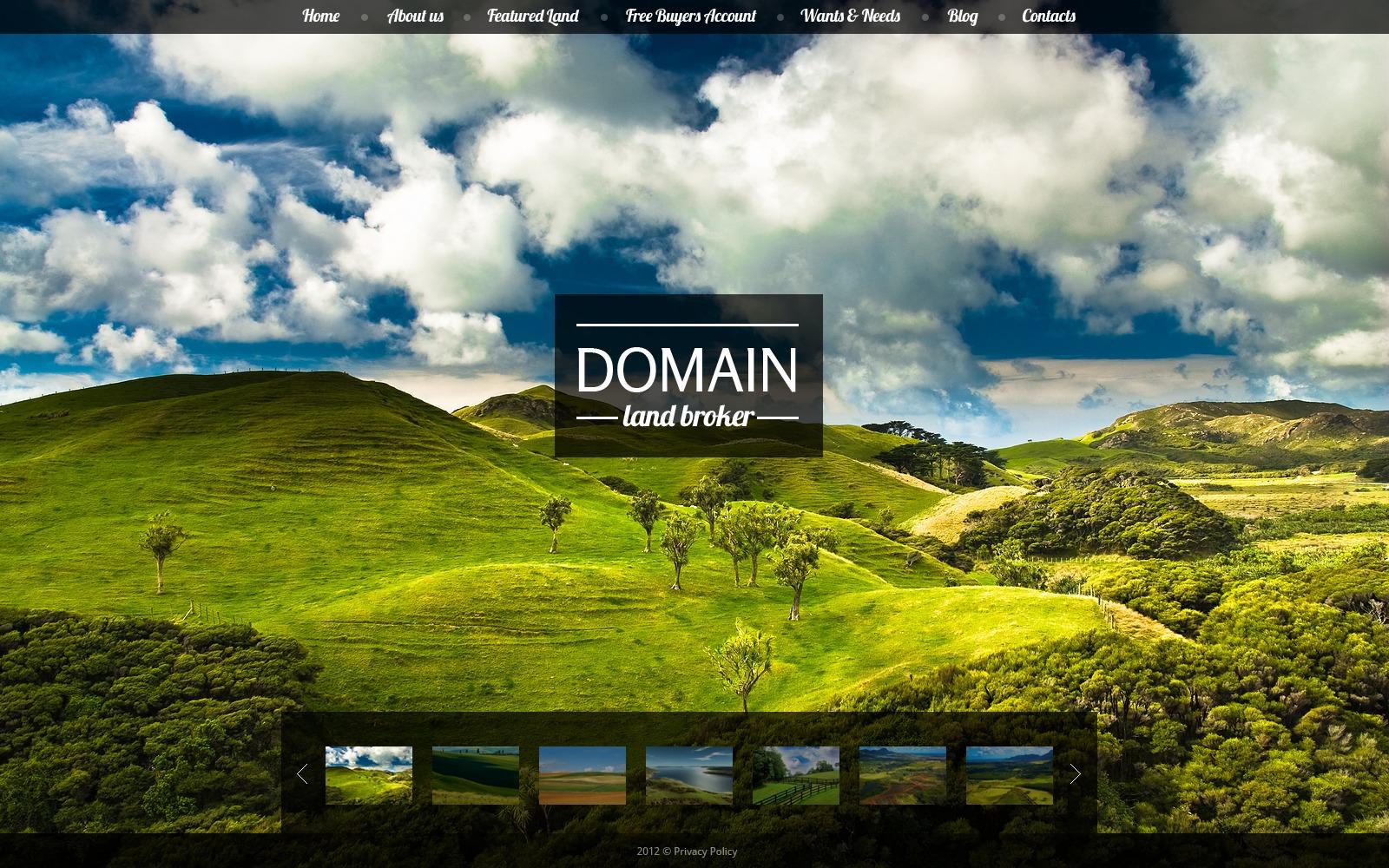 Land Broker Website Template
