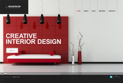 MotoCMS HTML шаблон №40322 на тему дизайн интерьеров