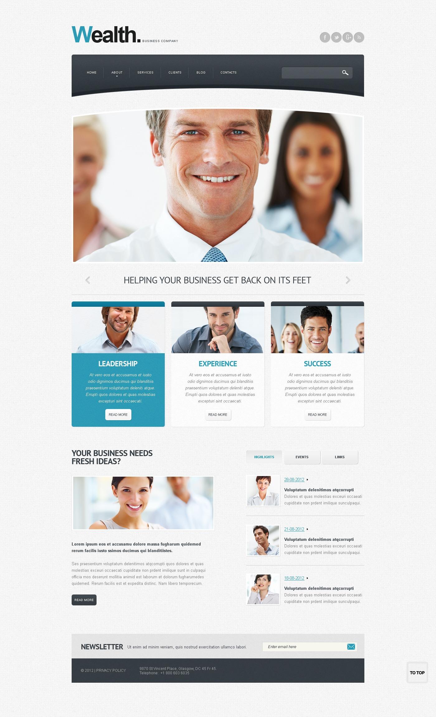 Reklámügynökségi Drupal sablon 40374