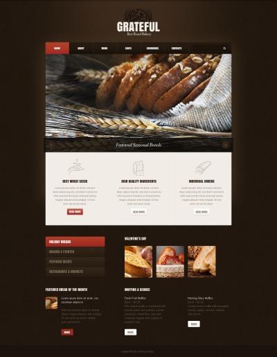 Bakery Responsive Šablona Webových Stránek
