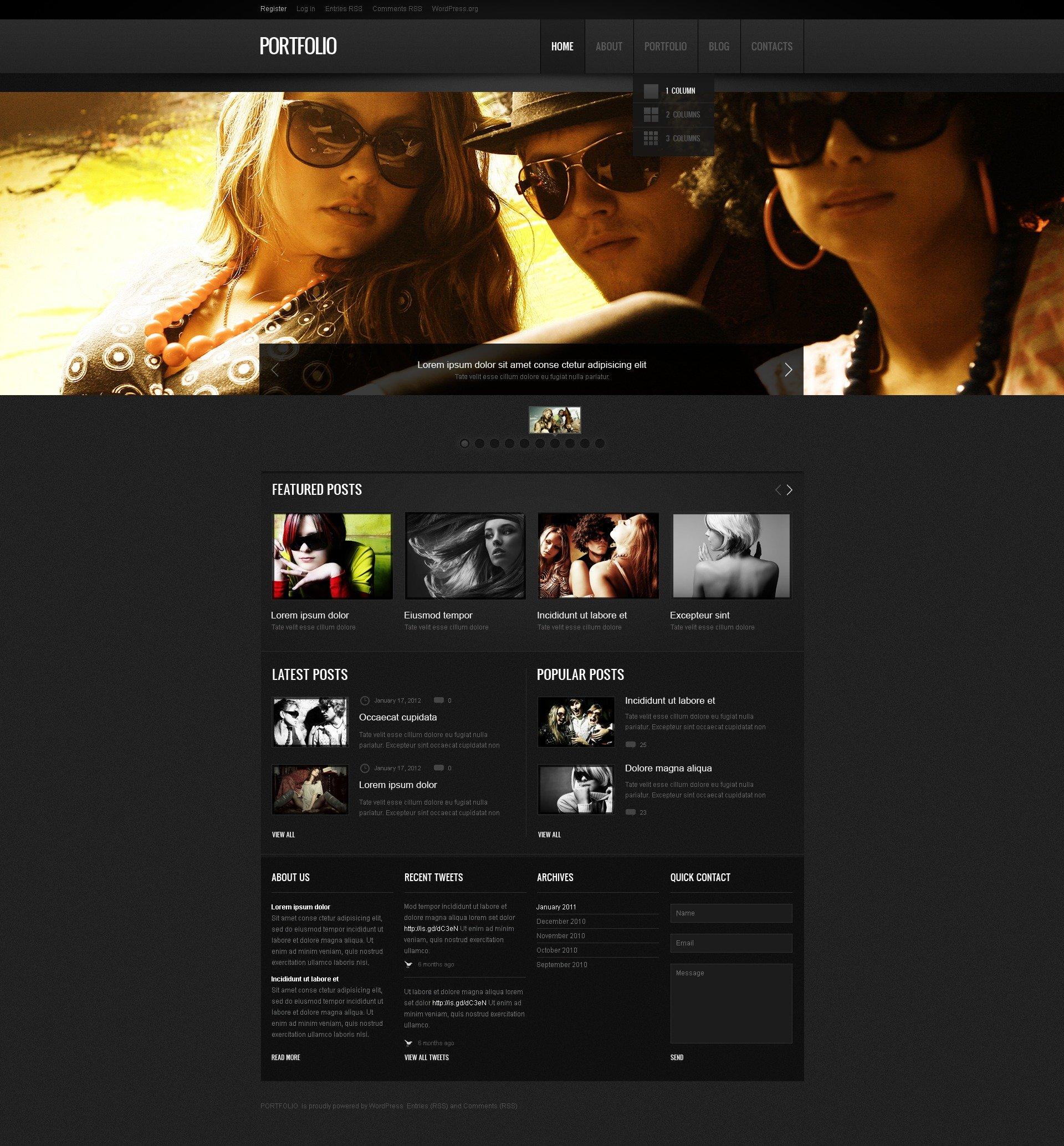 Tema De WordPress Responsive para Sitio de Portafolios de fotógrafos #40346 - captura de pantalla