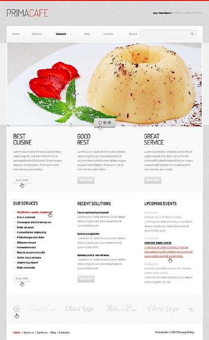 Joomla Theme/Template 40400 Main Page Screenshot